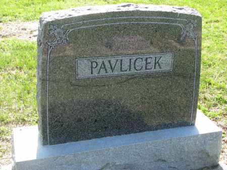 PAVLICEK, FAMILY STONE - Bon Homme County, South Dakota | FAMILY STONE PAVLICEK - South Dakota Gravestone Photos