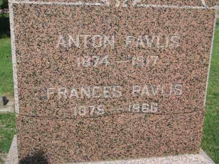 PAVLIS, FRANCES (CLOSEUP) - Bon Homme County, South Dakota | FRANCES (CLOSEUP) PAVLIS - South Dakota Gravestone Photos