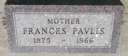 PAVLIS, FRANCES - Bon Homme County, South Dakota   FRANCES PAVLIS - South Dakota Gravestone Photos