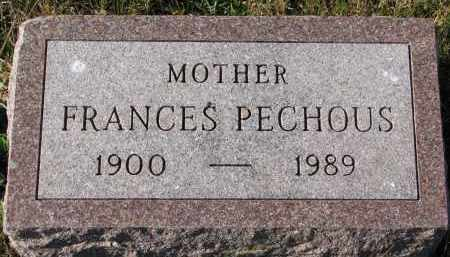 PECHOUS, FRANCES - Bon Homme County, South Dakota | FRANCES PECHOUS - South Dakota Gravestone Photos
