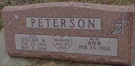 PETERSON, OSCAR A. - Bon Homme County, South Dakota | OSCAR A. PETERSON - South Dakota Gravestone Photos