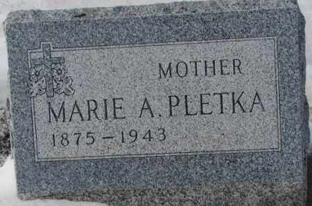 PLETKA, MARIE A. - Bon Homme County, South Dakota | MARIE A. PLETKA - South Dakota Gravestone Photos