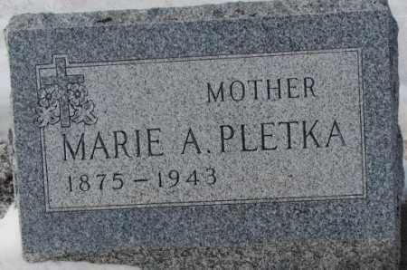 PLETKA, MARIE A. - Bon Homme County, South Dakota | MARIE A. PLETKA - South Dakota Gravestone Photos