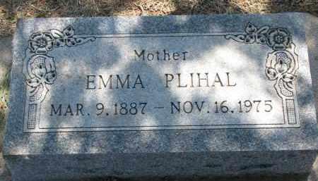 PLIHAL, EMMA - Bon Homme County, South Dakota | EMMA PLIHAL - South Dakota Gravestone Photos