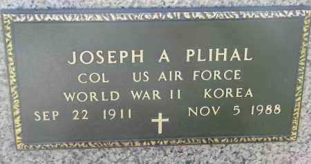 PLIHAL, JOSEPH A. (MILITARY) - Bon Homme County, South Dakota   JOSEPH A. (MILITARY) PLIHAL - South Dakota Gravestone Photos