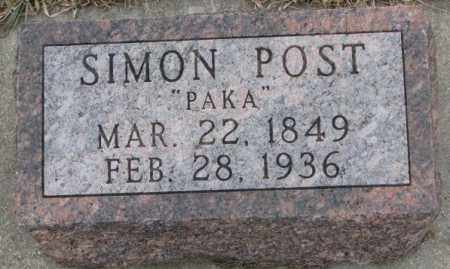 POST, SIMON - Bon Homme County, South Dakota | SIMON POST - South Dakota Gravestone Photos