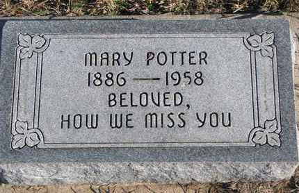 POTTER, MARY - Bon Homme County, South Dakota | MARY POTTER - South Dakota Gravestone Photos