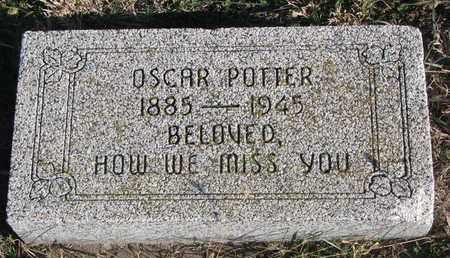 POTTER, OSCAR - Bon Homme County, South Dakota | OSCAR POTTER - South Dakota Gravestone Photos