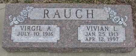 RAUCH, VIVIAN L. - Bon Homme County, South Dakota | VIVIAN L. RAUCH - South Dakota Gravestone Photos
