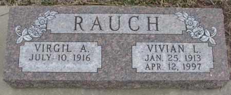 RAUCH, VIRGIL A. - Bon Homme County, South Dakota | VIRGIL A. RAUCH - South Dakota Gravestone Photos