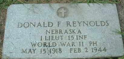 REYNOLDS, DONALD F. - Bon Homme County, South Dakota | DONALD F. REYNOLDS - South Dakota Gravestone Photos