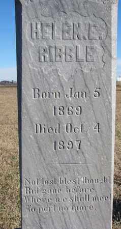 RIBBLE, HELEN E. (CLOSEUP) - Bon Homme County, South Dakota | HELEN E. (CLOSEUP) RIBBLE - South Dakota Gravestone Photos