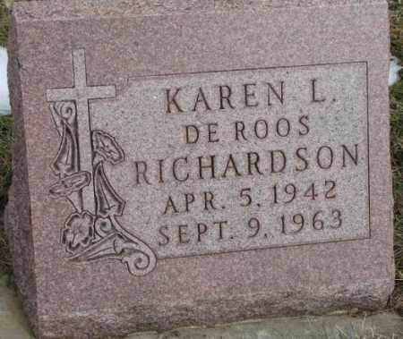 DE ROOS RICHARDSON, KAREN L. - Bon Homme County, South Dakota | KAREN L. DE ROOS RICHARDSON - South Dakota Gravestone Photos