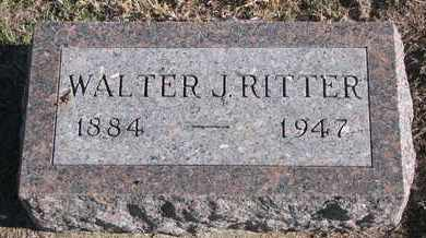 RITTER, WALTER J. - Bon Homme County, South Dakota   WALTER J. RITTER - South Dakota Gravestone Photos