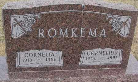 ROMKEMA, CORNELIUS - Bon Homme County, South Dakota | CORNELIUS ROMKEMA - South Dakota Gravestone Photos