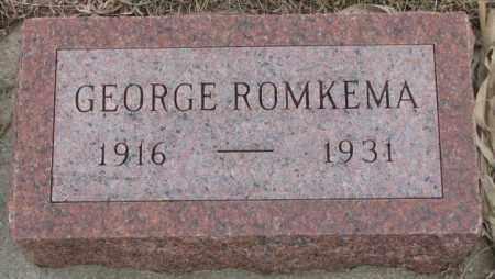 ROMKEMA, GEORGE - Bon Homme County, South Dakota | GEORGE ROMKEMA - South Dakota Gravestone Photos