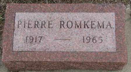 ROMKEMA, PIERRE - Bon Homme County, South Dakota | PIERRE ROMKEMA - South Dakota Gravestone Photos