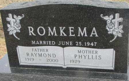 ROMKEMA, RAYMOND - Bon Homme County, South Dakota | RAYMOND ROMKEMA - South Dakota Gravestone Photos