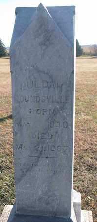 ROUNDSVILLE, HULDAH - Bon Homme County, South Dakota | HULDAH ROUNDSVILLE - South Dakota Gravestone Photos