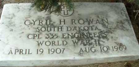 ROWAN, CYRIL H. - Bon Homme County, South Dakota | CYRIL H. ROWAN - South Dakota Gravestone Photos