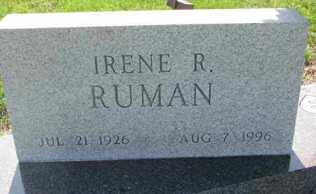 RUMAN, IRENE R. (CLOSEUP) - Bon Homme County, South Dakota | IRENE R. (CLOSEUP) RUMAN - South Dakota Gravestone Photos