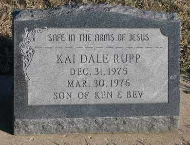 RUPP, KAI DALE - Bon Homme County, South Dakota | KAI DALE RUPP - South Dakota Gravestone Photos