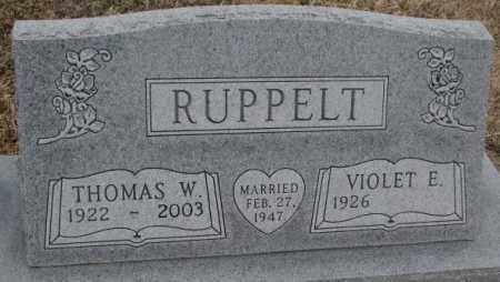 RUPPELT, VIOLET E. - Bon Homme County, South Dakota | VIOLET E. RUPPELT - South Dakota Gravestone Photos