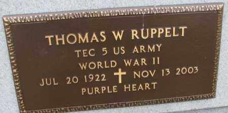 RUPPELT, THOMAS W. (WW II) - Bon Homme County, South Dakota | THOMAS W. (WW II) RUPPELT - South Dakota Gravestone Photos