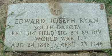 RYAN, EDWARD JOSEPH - Bon Homme County, South Dakota | EDWARD JOSEPH RYAN - South Dakota Gravestone Photos
