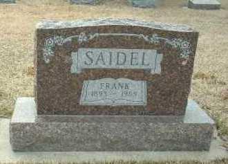 SAIDEL, FRANK - Bon Homme County, South Dakota | FRANK SAIDEL - South Dakota Gravestone Photos