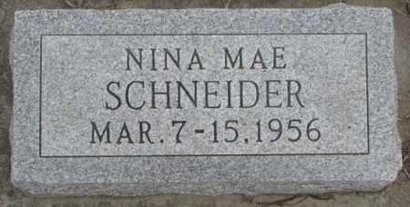SCHNEIDER, NINA MAE - Bon Homme County, South Dakota | NINA MAE SCHNEIDER - South Dakota Gravestone Photos