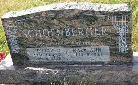 SCHOENBERGER, RICHARD G. - Bon Homme County, South Dakota   RICHARD G. SCHOENBERGER - South Dakota Gravestone Photos