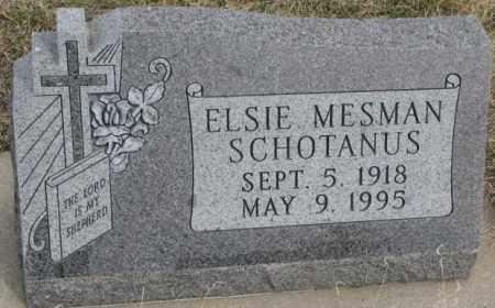 MESMAN SCHOTANUS, ELSIE - Bon Homme County, South Dakota | ELSIE MESMAN SCHOTANUS - South Dakota Gravestone Photos