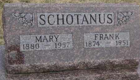 SCHOTANUS, MARY - Bon Homme County, South Dakota | MARY SCHOTANUS - South Dakota Gravestone Photos