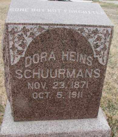 SCHUURMANS, DORA - Bon Homme County, South Dakota | DORA SCHUURMANS - South Dakota Gravestone Photos