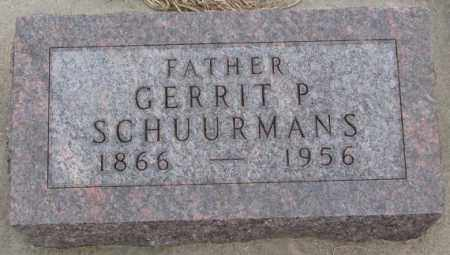 SCHUURMANS, GERRIT P. - Bon Homme County, South Dakota | GERRIT P. SCHUURMANS - South Dakota Gravestone Photos