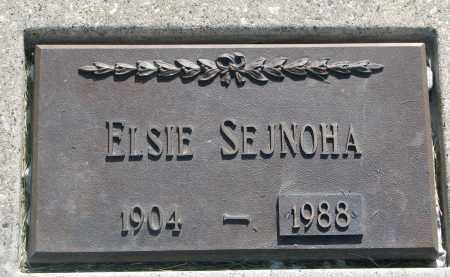 SEJNOHA, ELSIE - Bon Homme County, South Dakota   ELSIE SEJNOHA - South Dakota Gravestone Photos