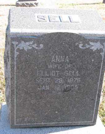 SELL, ANNA - Bon Homme County, South Dakota | ANNA SELL - South Dakota Gravestone Photos