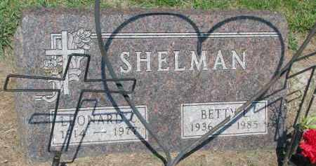 SHELMAN, BETTY L. - Bon Homme County, South Dakota | BETTY L. SHELMAN - South Dakota Gravestone Photos