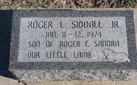 SIDDALL, ROGER L. JR. - Bon Homme County, South Dakota   ROGER L. JR. SIDDALL - South Dakota Gravestone Photos