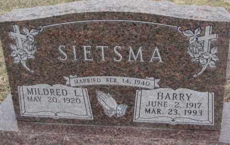 SIETSMA, HARRY - Bon Homme County, South Dakota | HARRY SIETSMA - South Dakota Gravestone Photos