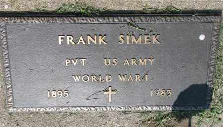 SIMEK, FRANK - Bon Homme County, South Dakota | FRANK SIMEK - South Dakota Gravestone Photos