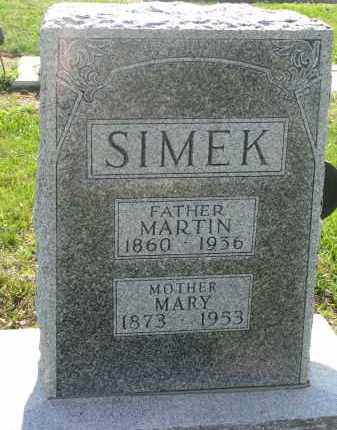 SIMEK, MARY - Bon Homme County, South Dakota | MARY SIMEK - South Dakota Gravestone Photos