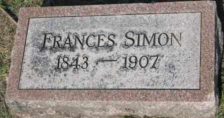 SIMON, FRANCES - Bon Homme County, South Dakota   FRANCES SIMON - South Dakota Gravestone Photos