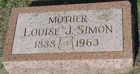 SIMON, LOUISE J. - Bon Homme County, South Dakota   LOUISE J. SIMON - South Dakota Gravestone Photos