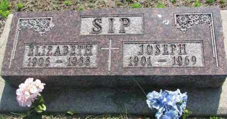 SIP, ELIZABETH - Bon Homme County, South Dakota | ELIZABETH SIP - South Dakota Gravestone Photos