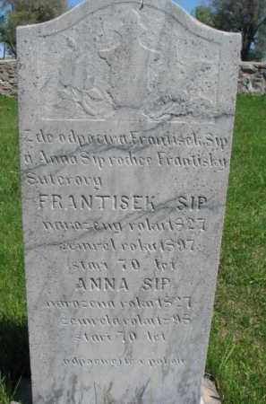 SIP, FRANTISEK - Bon Homme County, South Dakota | FRANTISEK SIP - South Dakota Gravestone Photos