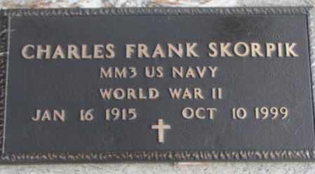 SKORPIK, CHARLES FRANK (WWII) - Bon Homme County, South Dakota   CHARLES FRANK (WWII) SKORPIK - South Dakota Gravestone Photos