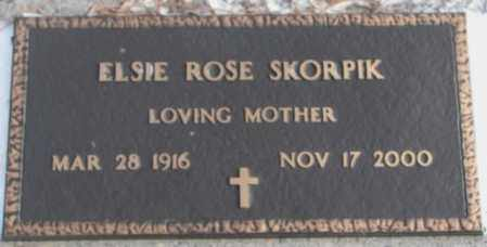 SKORPIK, ELSIE ROSE - Bon Homme County, South Dakota | ELSIE ROSE SKORPIK - South Dakota Gravestone Photos