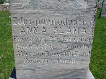 SLAMA, ANNA - Bon Homme County, South Dakota | ANNA SLAMA - South Dakota Gravestone Photos